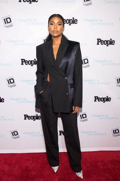 jacket blazer black pumps gabrielle union suit