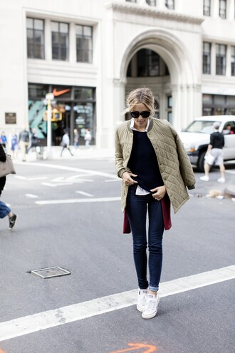 damsel in dior blogger quilted fall coat