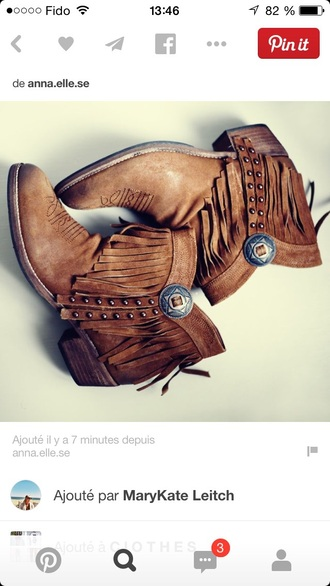 shoes fringes country style