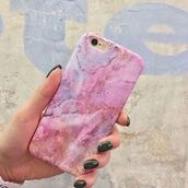 phone cover,yeah bunny,marble,iphone,pink space,cute,iphone case