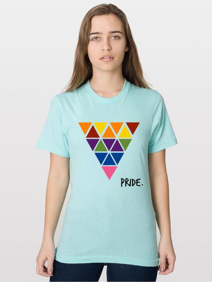 rainbow shirt rainbow print shirt pride gay pride lgbt lgbt gays pink triangle triangle print
