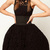 ROMWE | Lace Cut-out Belted Black Bubble Dress, The Latest Street Fashion