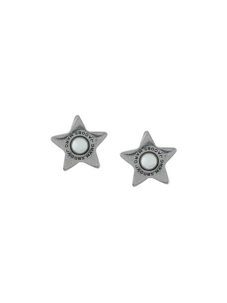 women pearl earrings stud earrings grey metallic jewels