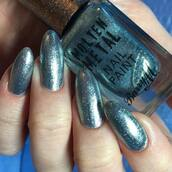 nail polish,tumblr,metallic nails,acrylic nails,nails