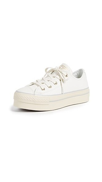 sneakers light gold white shoes