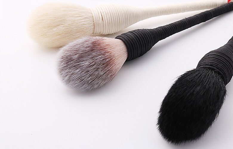 2018 Rattan Makeup Brushes New Design 3pcs Hand-made Brushes