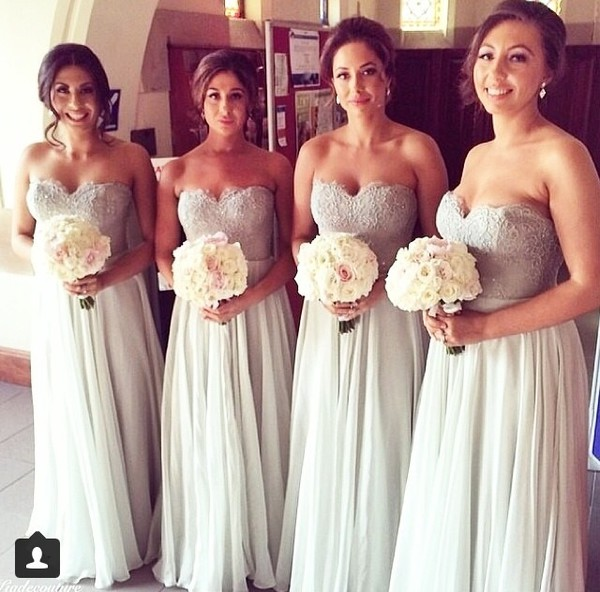 prom bridesmaid dress light grey sweetheart chiffon bridem bridesmaid prom dress homecoming dress sleeveless bridesmaid dress sweetheart bridesmaid dress