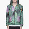 Y-3 green plant print hooded windbreaker for men | ssense