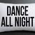 dance all night pillow