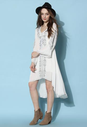dress chicwish chicwish.com bali dress maxi dress off-white dress summer dress embroidered dress