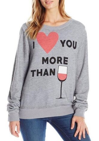 sweater grey casual heart alcohol teenagers funny long sleeves warm cozy trendy cool style fall outfits stylish sporty winter outfits clothes heart sweater