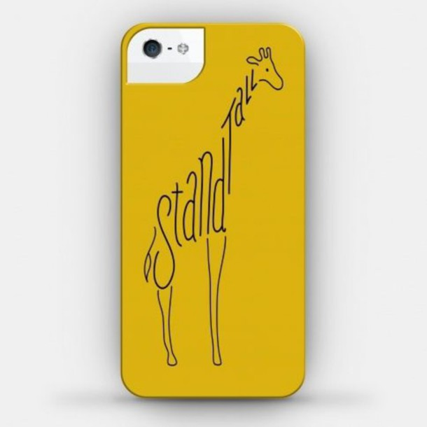 phone cover giraffe yellow brown phone cover