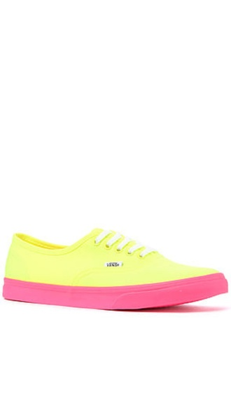 shoes colorful sneakers vans neon pink yellow bright sneakers