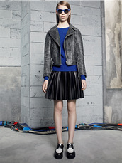 skirt,sandro,fashion,lookbook,jacket,sweater,sunglasses