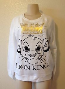 Forever 21 Disney The Lion King Simba Sweatshirt Sweater Jumper Top Small | eBay