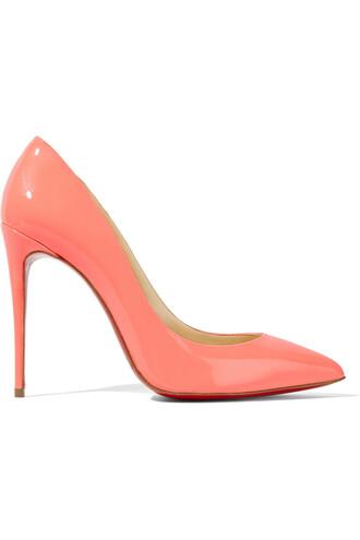 100 pumps leather coral shoes