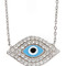 Evil eye pave pendant necklace - max and chloe
