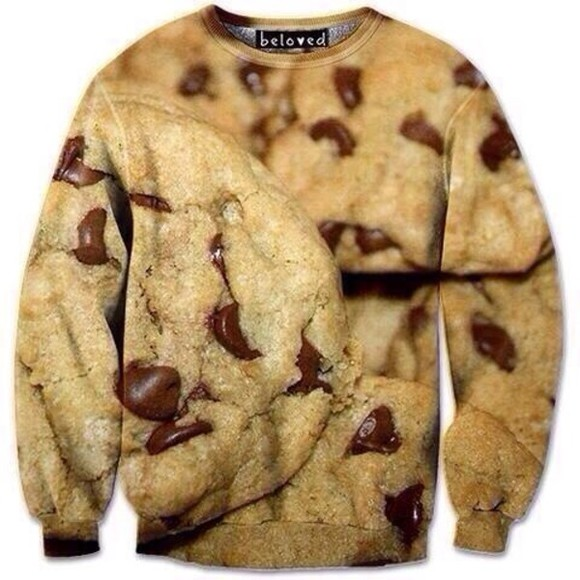 sweatshirt jacket chocolate chip cookies