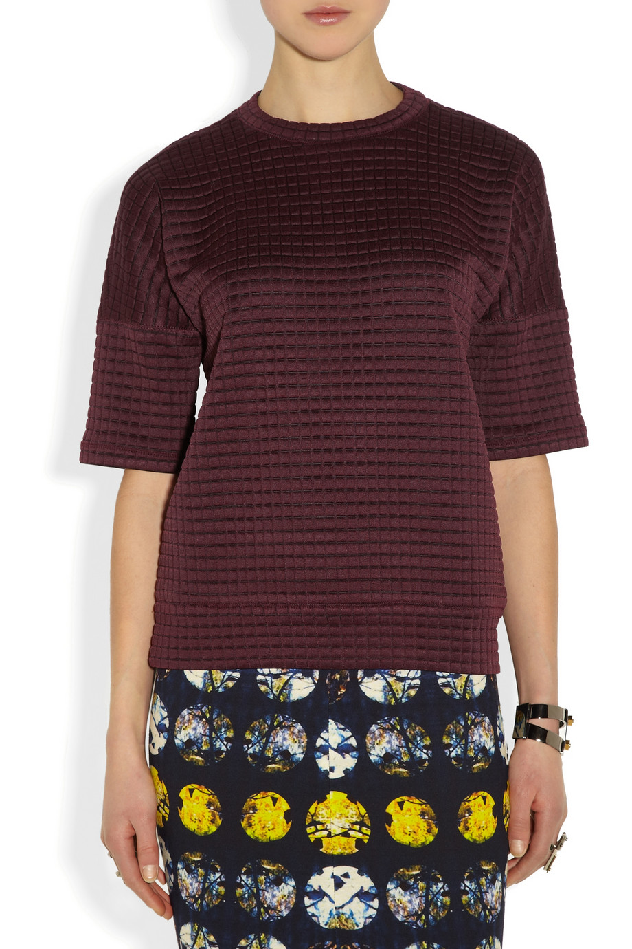 Derek Lam Waffle-knit jersey top – 65% at THE OUTNET.COM