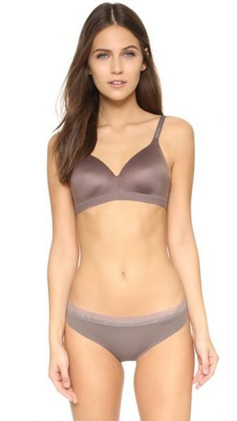 Calvin Klein Underwear Bare Shape Wireless T-Shirt Bra - Smoke
