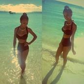 swimwear,bikini,high waisted,vintage,50s style,high waisted bikini,jewels,beach,summer,style,fashion,spring,holidays,miami