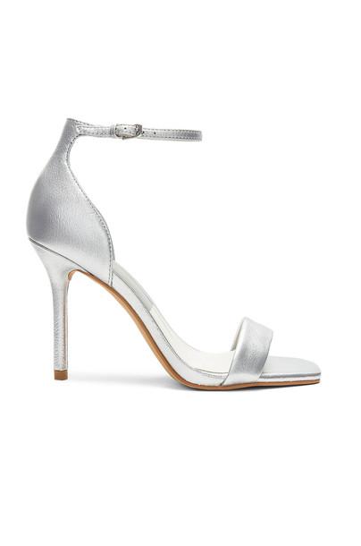 Dolce Vita heel metallic silver shoes