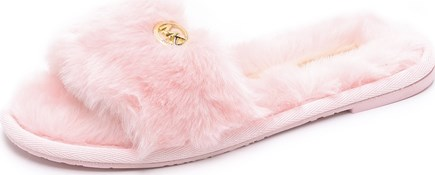 ... Pink Lyst; Jet Set Faux Fur Slide Slippers - MICHAEL Michael Kors - 45  on Styloko