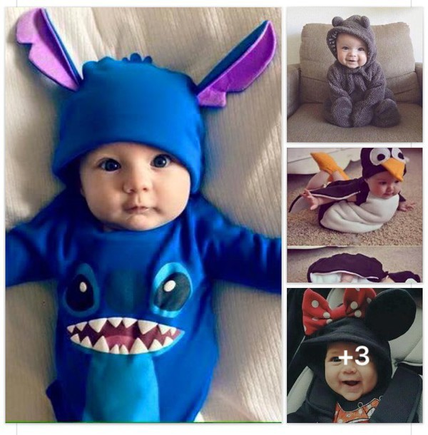 b1940a87e014 baby clothing sweet lilo and stitch disney minnie mouse penguin bear  instagram onesie jumpsuit