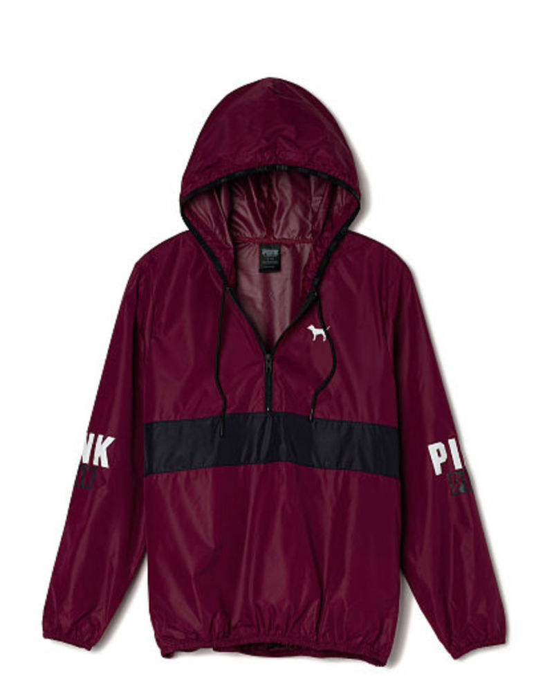 Secret PINK Pullover Anorak Jacket Maroon Windbreaker M/L NEW