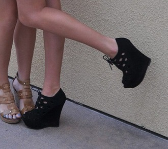 shoes heels pumps black lace pretty stylish fashion
