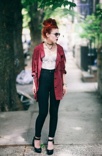 le happy blogger jacket pants shoes