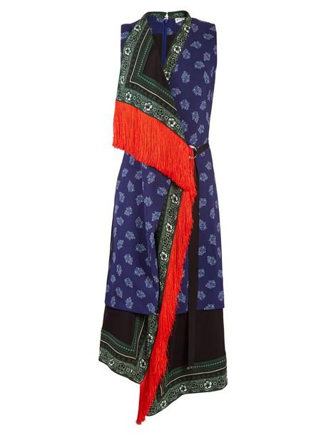 Altuzarra dress sleeveless print blue
