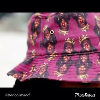 biggie smalls biggie hat hair accessory rap love&hip hop swag notorious big gangsta rap purple