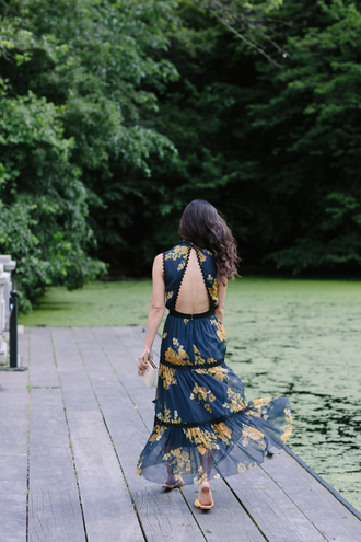 dress tumblr floral floral dress maxi dress floral maxi dress long dress sleeveless sleeveless dress open back open back dresses backless backless dress shoes