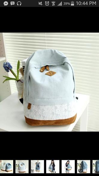 bag denim backpack denim school bag