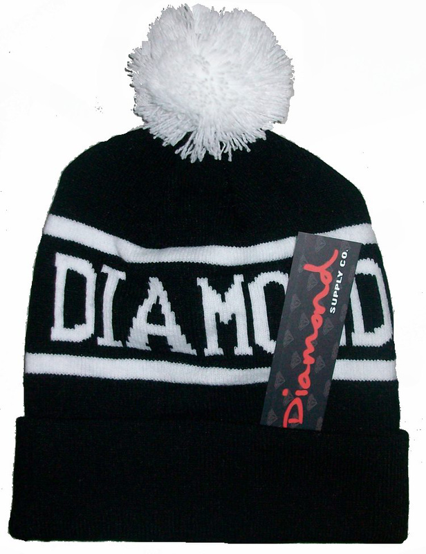 Diamond Supply Beanie Hat,Diamond Beanies with Pom
