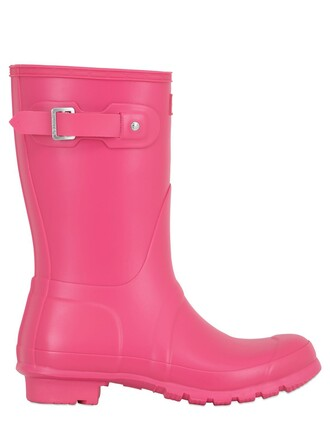 short boots pink bright shoes