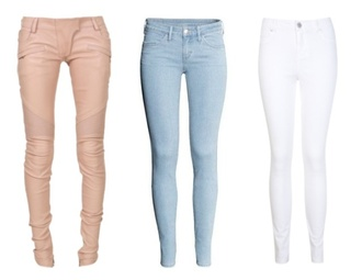 jeans pants pink blue white pink pants blue pants blue pants jeans  summer white jeans blouse necklace white jeans sunglasses diamonds glitter shine ghetto