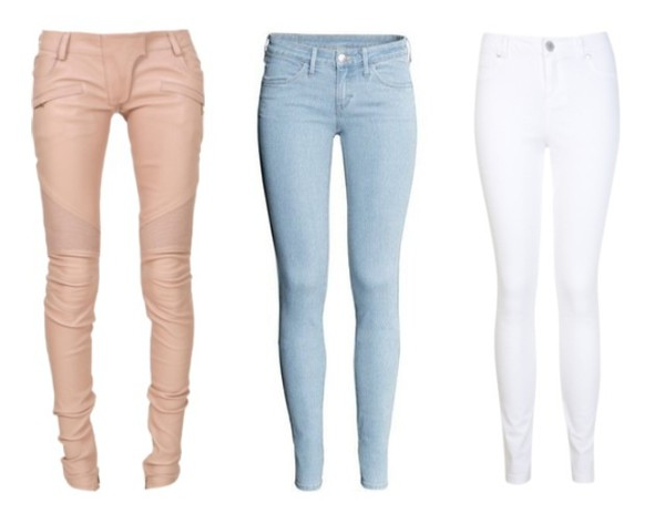 jeans pants pink blue white pink pants blue pants blue pants jeans  summer white jeans blouse necklace white jeans sunglasses diamonds glitter shiny ghetto