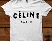 Celine paris t shirt on etsy, a global handmade and vintage marketplace.