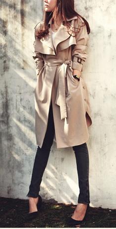 Trench Coat long Outerwear - Juicy Wardrobe