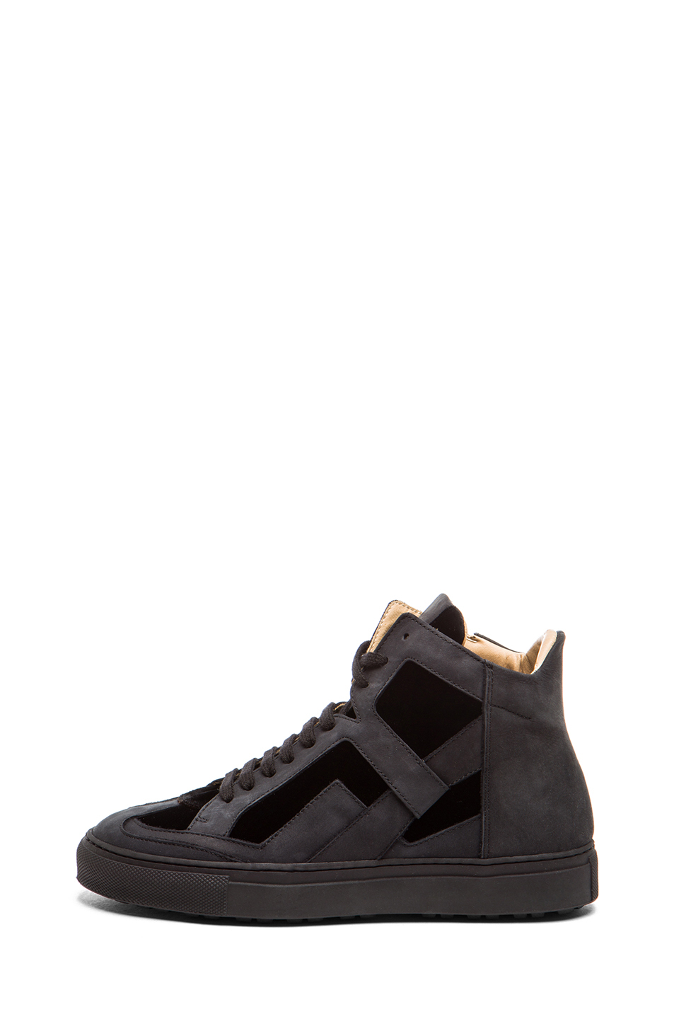 MM6 by maison martin margiela|Nubuck Leather Sneakers in Black