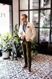 stay classic,blogger,jacket,shirt,pants,shoes,jewels,sunglasses