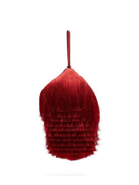 Hillier Bartley - Lantern Tassel Embellished Bag - Womens - Red