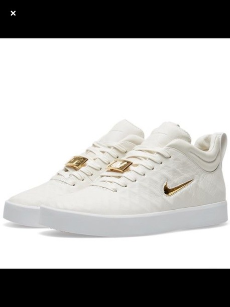 shoes nike tiempo white gold