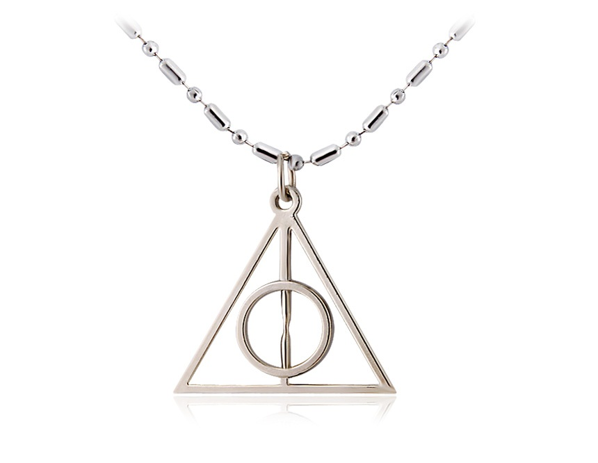 Harry Potter Triangle The Deathly Hallows Pedant Necklace (Silver) from Alex Dives on Storenvy