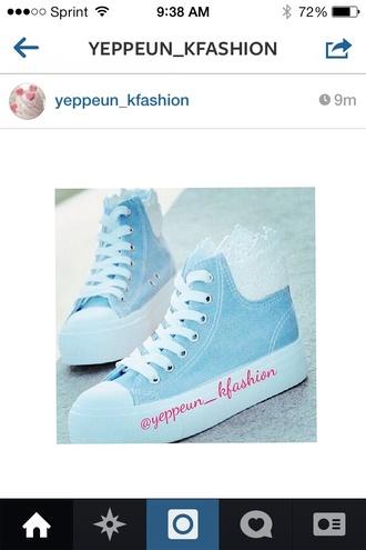 shoes light blue kfashion coat converse platform shoes cute