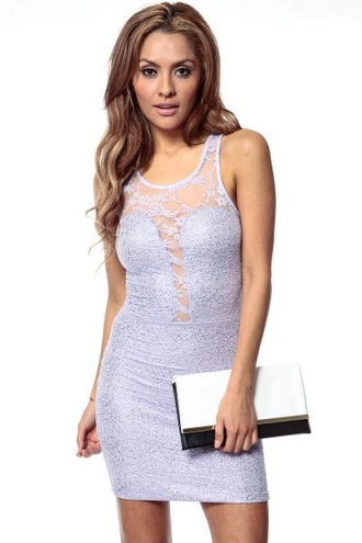 dress textured bodycon pastel