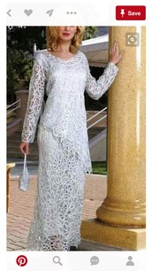 dress,lace silver mother of bride gown,silver mother of bride gown
