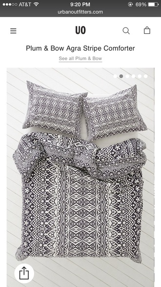 home accessory balck and white comforter bedding hipster beach house